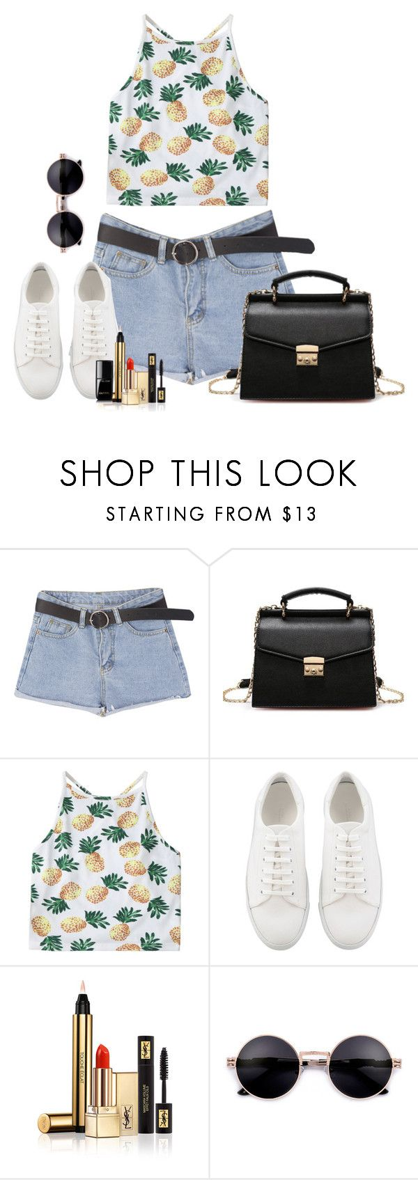 """""""Sin título #2014"""" by nataliac ❤ liked on Polyvore featuring Yves Saint Laurent and Chanel"""