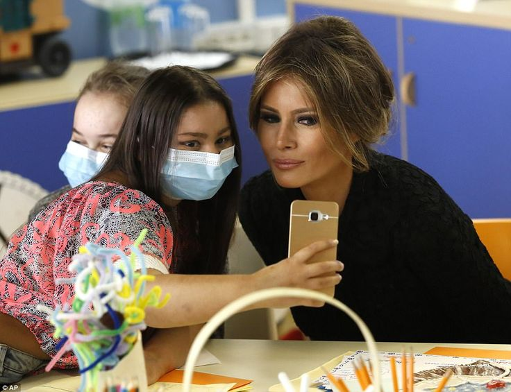 First Lady Melania Trump visited the Vatican's children's hospital on Wednesday during her trip to Italy with her husband, President Donald Trump