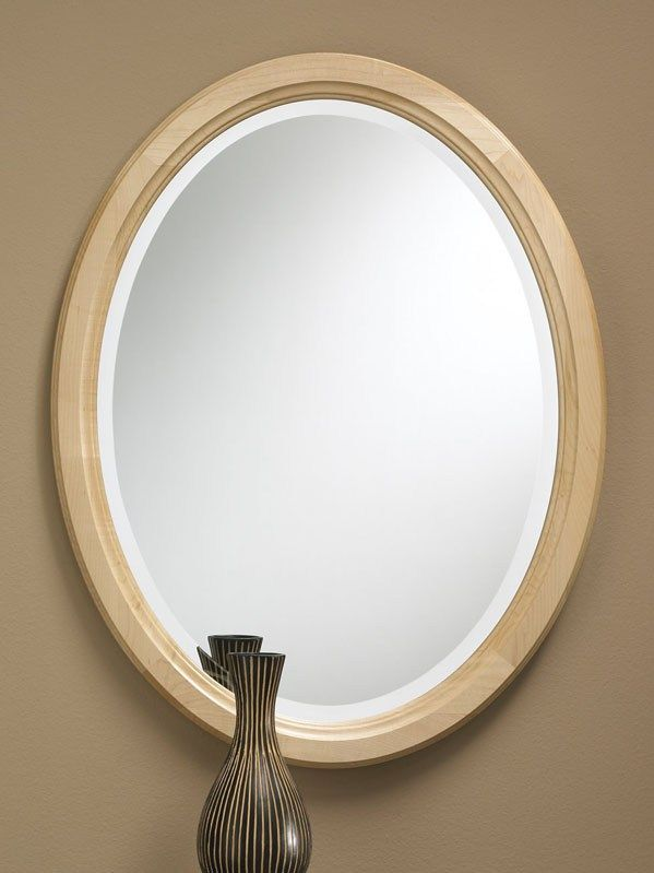 544   Maple oval framed mirror features a solid maple frame with a clear  finish and beveled edge  23 wide  30 high and deep. 20 best Solid Wood Framed Mirrors images on Pinterest   Framed