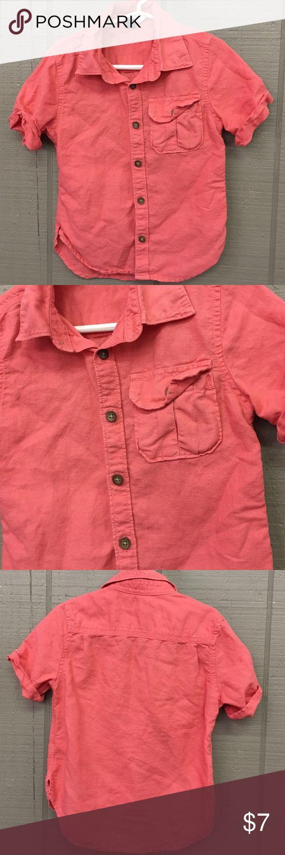 45%linen, 55 cotton coral shirt 45%linen, 55 cotton coral shirt GAP Shirts & Tops Button Down Shirts