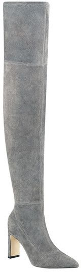 Sigerson Morrison Hye Suede Over-the-Knee Boot