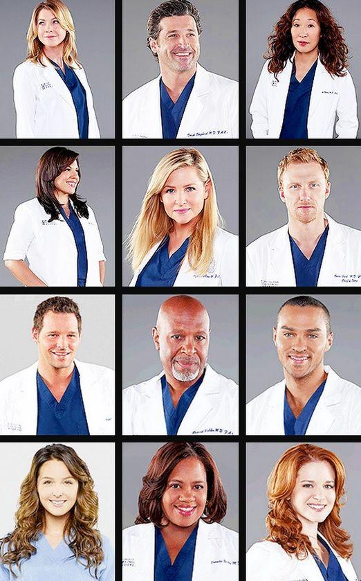 Certains membres de la distribution de Grey's Anatomy.