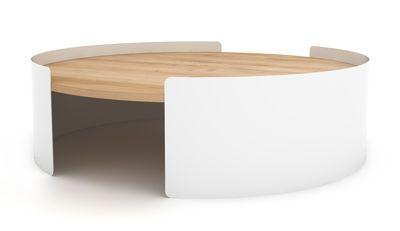 Table basse Moon / Ø 100 cm Chêne naturel / Blanc - Universo Positivo - Décoration et mobilier design avec Made in Design