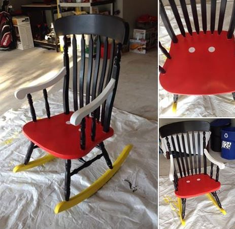 Mickey Mouse inspired rocking chair