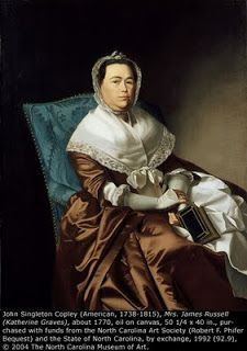Mrs. James Russell by James Singleton Copley, 1770