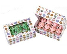 Be My Cupcake Boxes Holds 6 Cupcakes