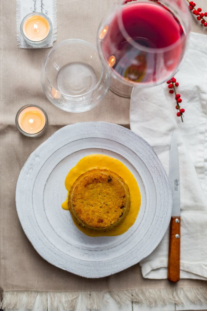 Rice timbale with pumpkin and sausage and the most important resolution