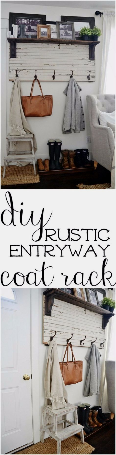 DIY Ideas for Your Entry – DIY Rustic Entryway Coat Rack – Cool and Creative Hom… DIY Ideas for Your Entry – DIY Rustic Entryway Coat Rack – Cool and Creative Home Decor or Entryway and Hall. Modern, Rustic and Classic Decor on  ..  http://www.wersdecor.website/2017/05/04/diy-ideas-for-your-entry-diy-rustic-entryway-coat-rack-cool-and-creative-hom/