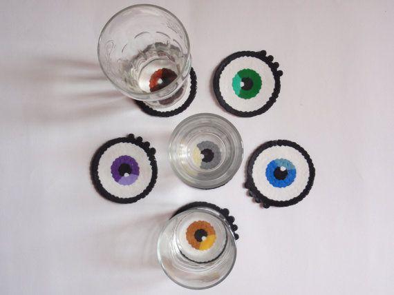 ... verre oeil en perles à repasser par nostalgeek plus repasser dessous