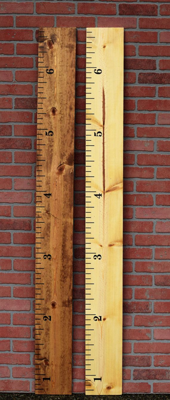 DIY Ruler Growth Chart Vinyl Decal Kit - Traditional Ruler- Small Numbers- Application Tools Included