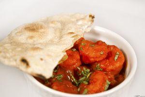 Tikka masala rákkal és csapatival (indiai kenyér) ~ Receptműves