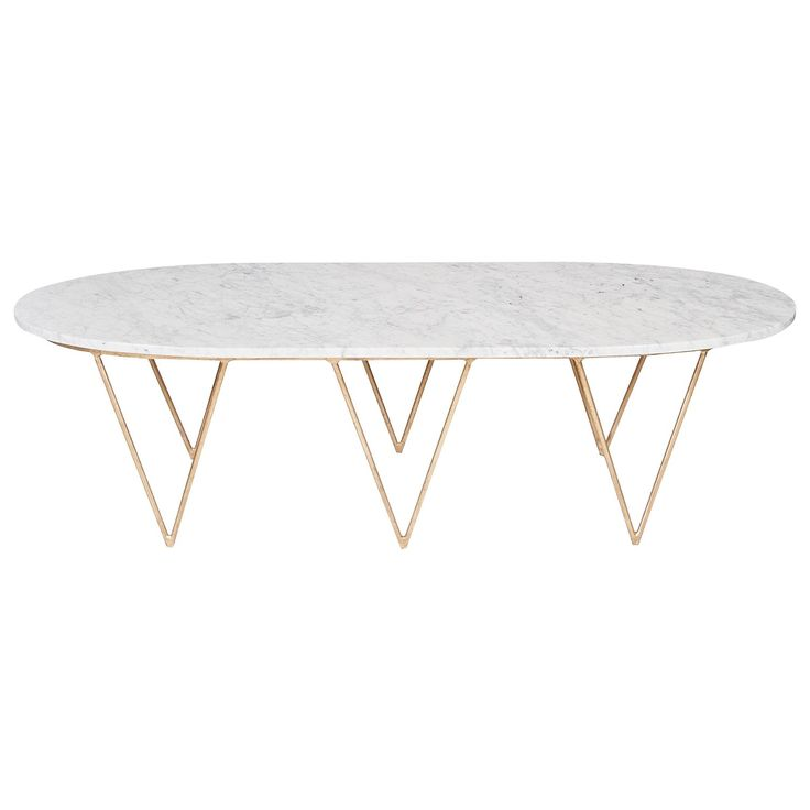 Worlds Away Surf Gold Leafed Coffee Table