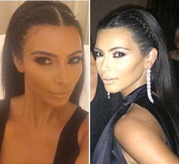 Kim Kardashian's Braided Headband In Ibiza -- Love