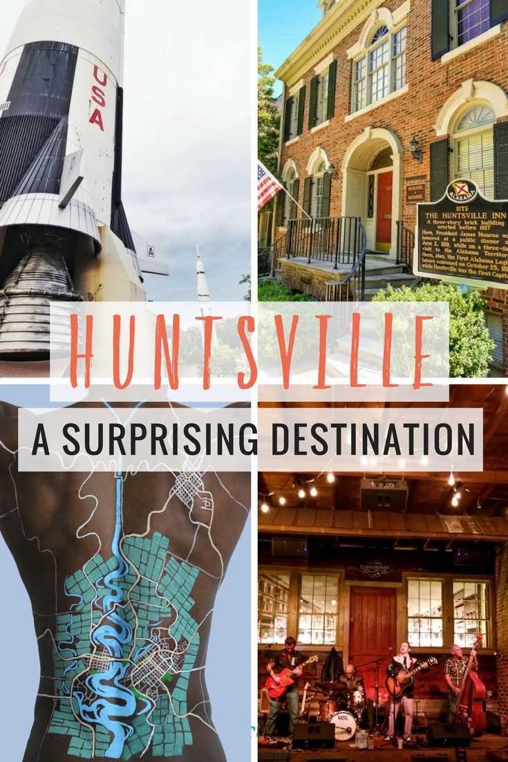 What a surprising and cool destination Huntsville Alabama is. Science, music, art , rockets and the best nightlife spots. Click to read the exciting things to do in Huntsville. Happy Pinning
