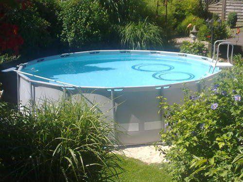 Intex aufstellpool frame pool set ultra rondo grau 488 for Gartenpool grau