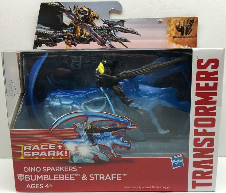 (TAS032414) - 2014 Hasbro Transformers Race and Spark Figure- Bumblebee & Strafe