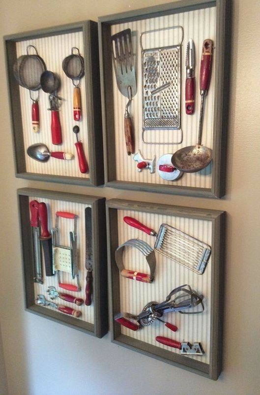 kitchen tools store rta cabinets framed vintage utensils pinterest
