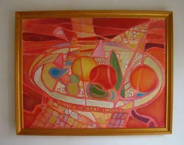 "Saatchi Art Artist Agata Padol; Painting, ""Fruit platter"" #art"