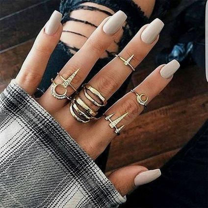 Luna Girl Golden Ring Set
