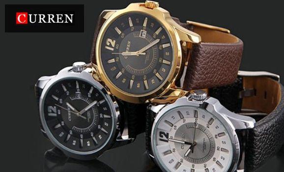 Stylové pánské hodinky Curren - doručení zdarma | Sleva hodinek