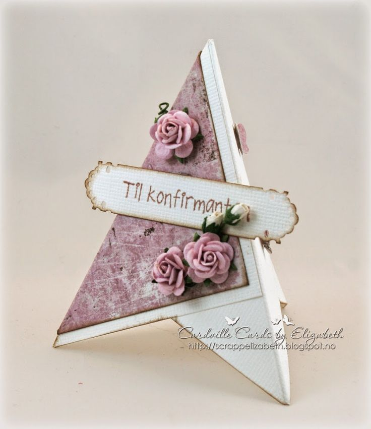 Cardville- Cards by Elizabeth: Tutorial: Easy to make pyramid placement cards/ Pyramide- bordkort
