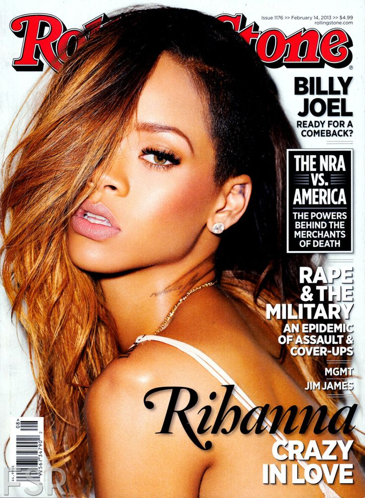 Rihanna on Rolling Stones Magazine Cover - February Issue