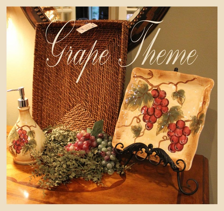 Wine Themed Kitchen Paint Ideas: 213 Best Wine And Grape Decor Images On Pinterest