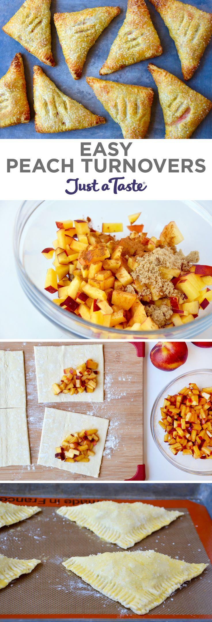 Easy Peach Turnovers | #recipe via justataste.com
