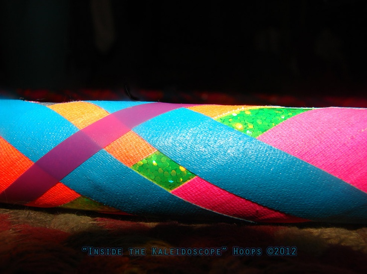 Collapsible Hula Hoop Plaid Pattern with a by KaleidoscopeHoops