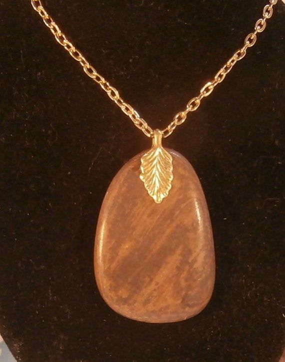 Polished Beach Stone Pendant by AllAussieOpals on Etsy