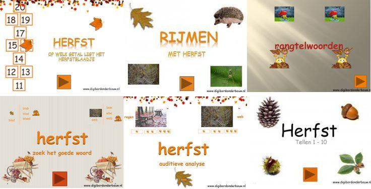 Zes digibordlessen op een rij. http://digibordonderbouw.nl/index.php/themas/herfst/herfstalgemeen