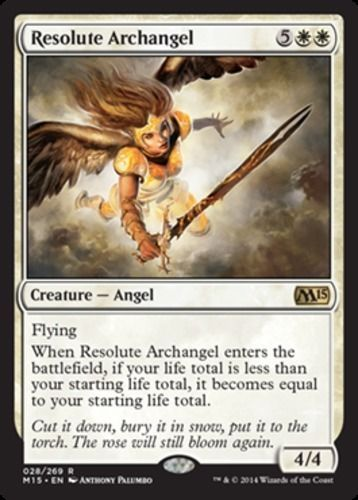 Resolute-Archangel-x4-Magic-the-Gathering-4x-Magic-2015-mtg-card-lot-rare-angel