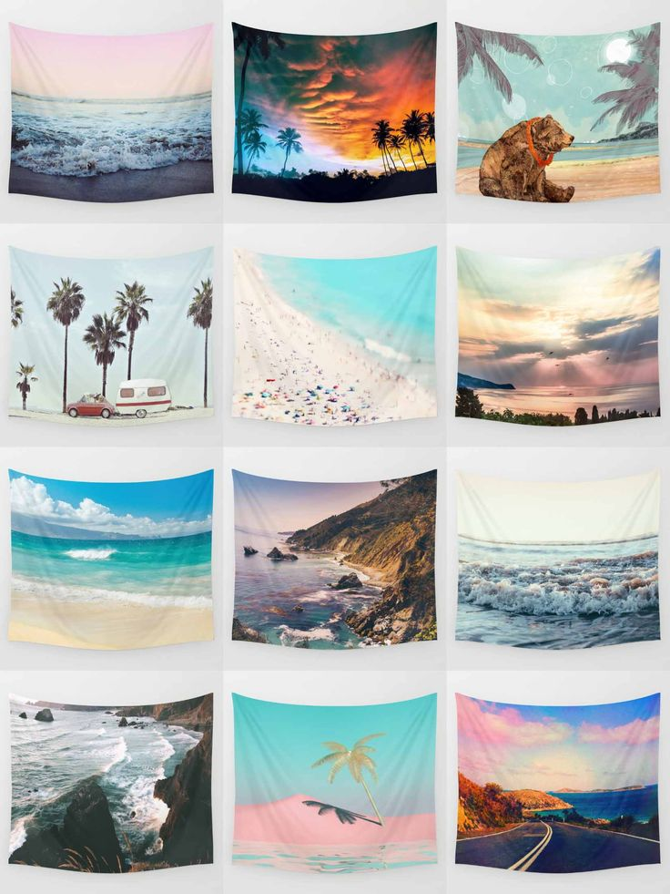 Society6 Beach Tapestries - Society6 is home to hundreds of thousands of artists from around the globe, uploading and selling their original works as 30+ premium consumer goods from Art Prints to Throw Blankets. They create, we produce and fulfill, and every purchase pays an artist.