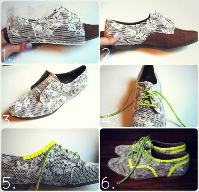 Кружевные туфли оксфорды (мастер-класс)