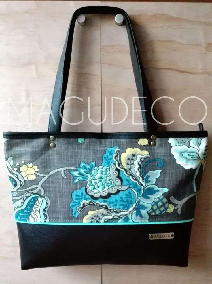 leather canvas tote @carterasmagudeco