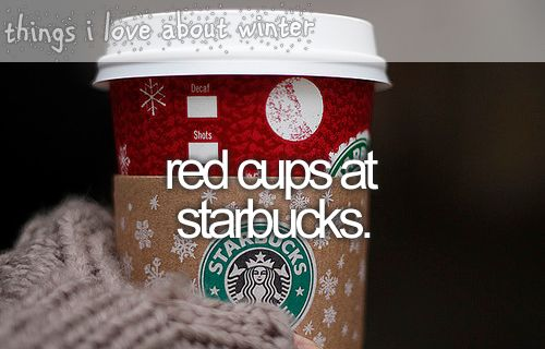 red starbucks cups: Christmas Time, Things I Love, Winter, Red Cups, Wonder Time, Starbucks Cups, Merry Christmas, Christmas Cups, Holidays Seasons