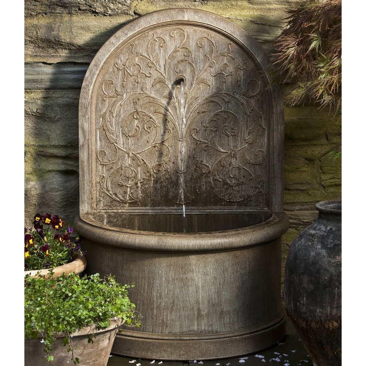 Campania International Corsini Wall Cast Stone Fountain