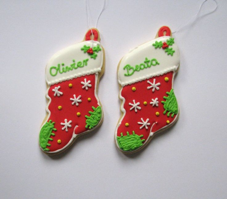 christmas stocking cookies with names