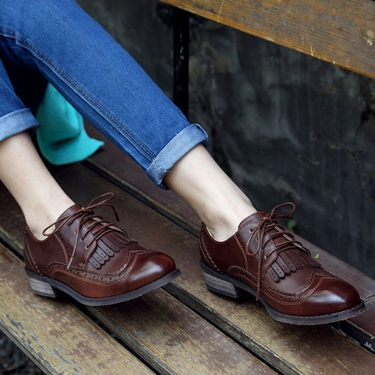 LALA IKAI Oxford Shoes for Women Vintage Women Soft Leather Brogues with Tassels Platform Oxfords Shoes Woman XWB0006 5-in Women's Pumps from Shoes on Aliexpress.com | Alibaba Group