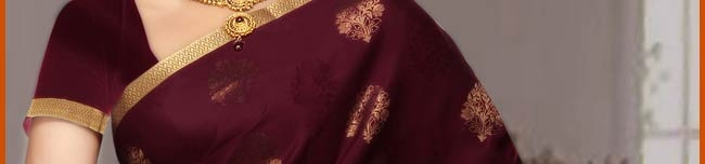 Maroon Pure Mysore Silk Saree with Blouse Online Shopping: STC121A