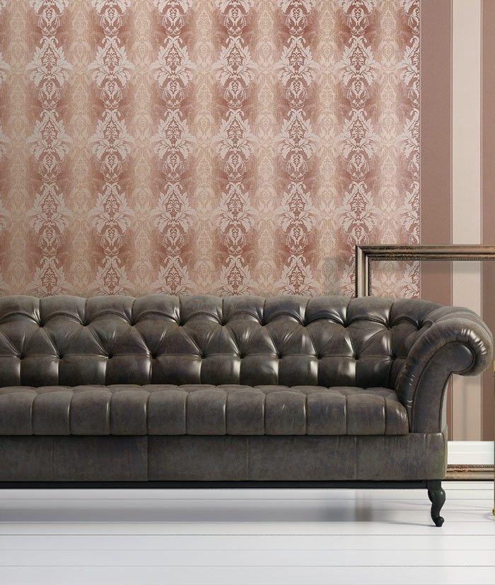 3D Damast behang EDEM 770-36 Barok behang structuur vinylbehang donker bruin bruin-rood bordeaux goud – Bild 2