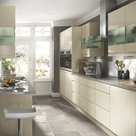 Cooke & Lewis High Gloss Cream   Kitchen Ranges   Kitchen   Rooms   DIY at B&Q