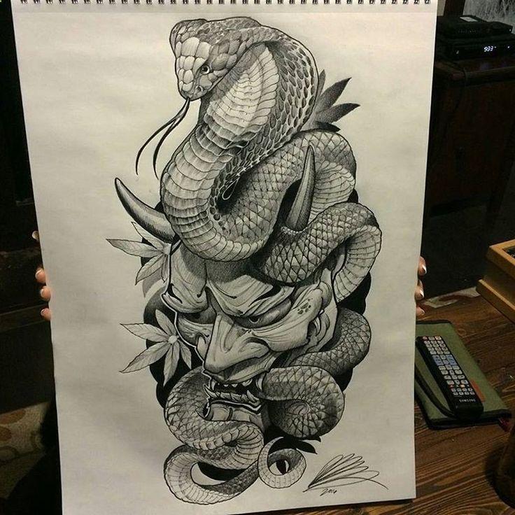 25+ Melhores Ideias De Tatuagem De Cobra Japonês No