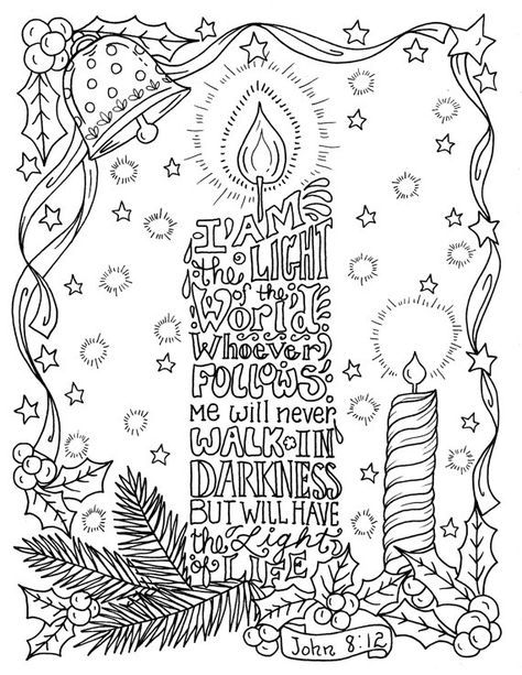 weihnachtskerze malvorlage christian scripture color