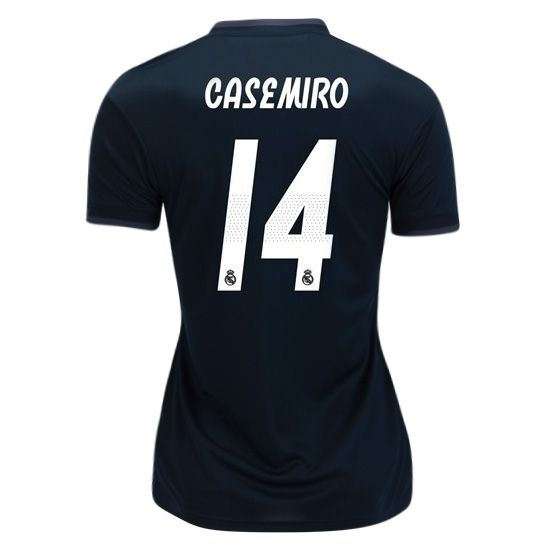 ebf63ffc33f 2018 19 Casemiro Jersey Number 14 Away Women s Real Madrid Soccer ...