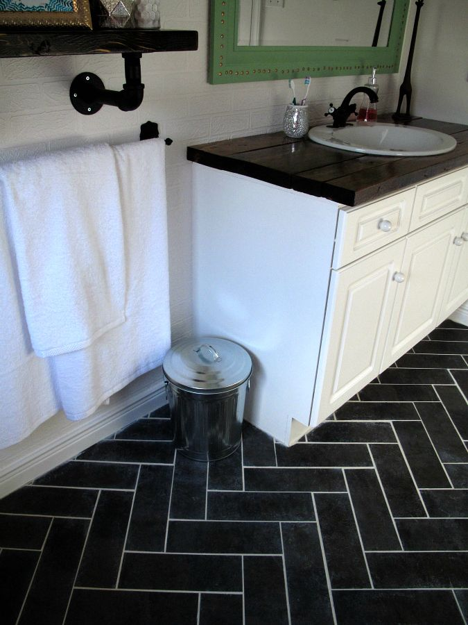 103 best vinyl flooring images on pinterest vinyl flooring vinyl tiles and vinyls for Groutable vinyl tile in bathroom