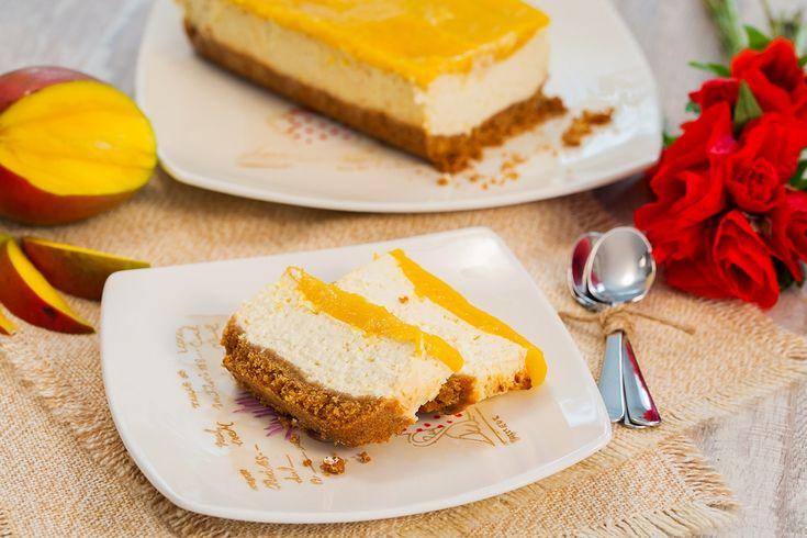 Cheesecake dietetic cu mango si Green Sugar - reteta video