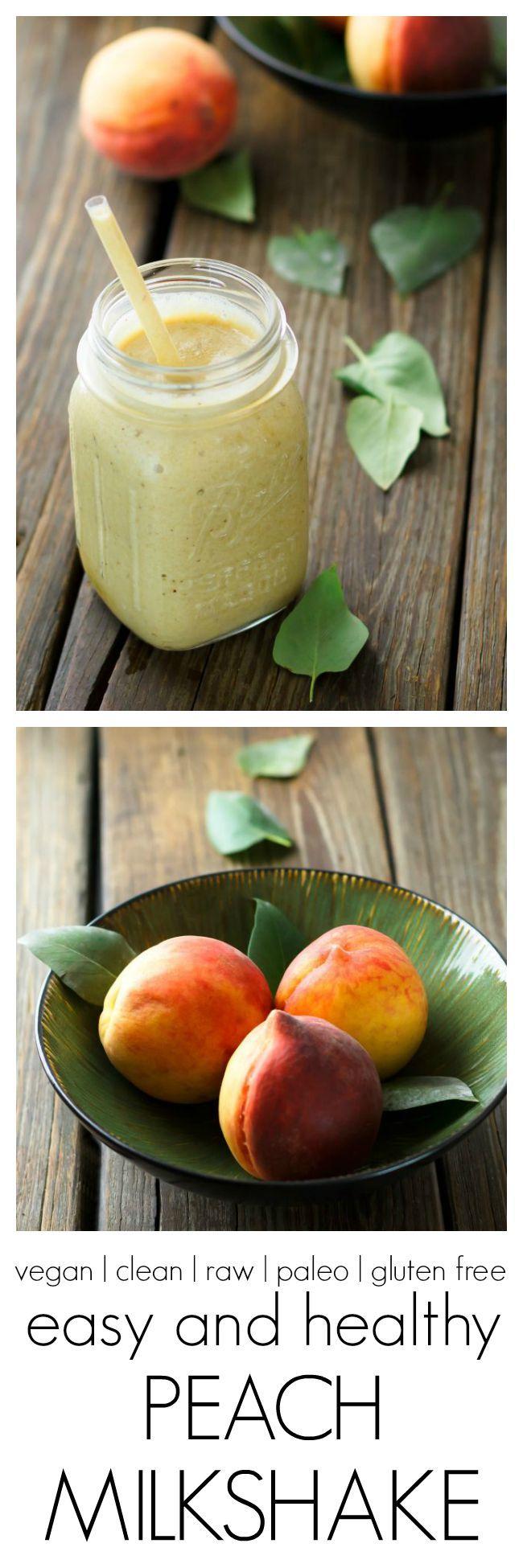 Easy All-Fruit Peach Milkshake | tastes like an ice cream shake, but it's made from frozen fruit! |