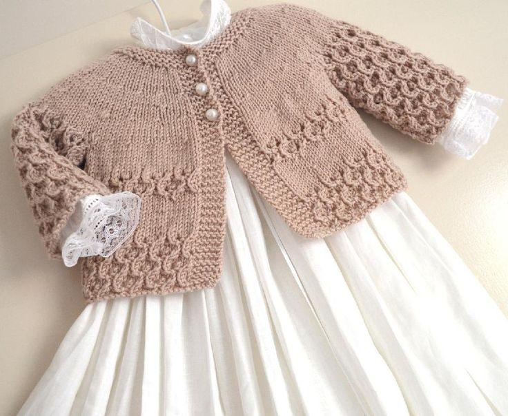 Round Yoke Cardigan – P088 Knitting pattern by OGE Knitwear Designs