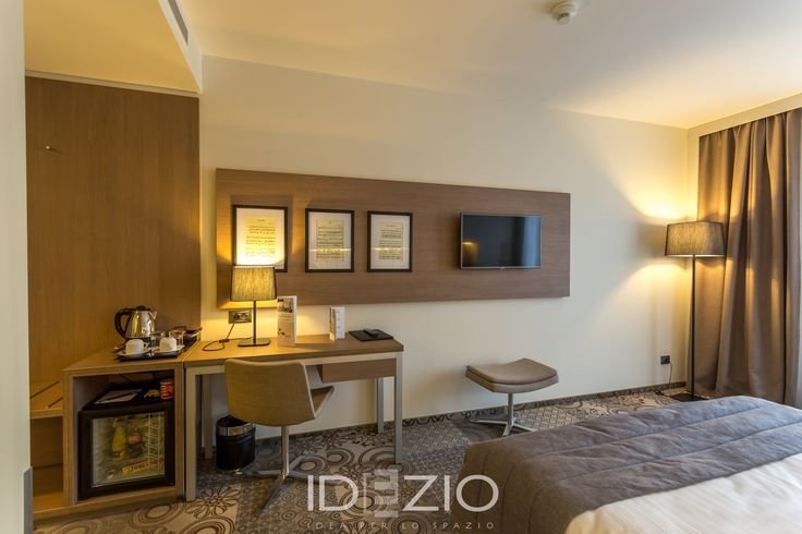 Custom-made furniture for a hotel in Bucharest, including wall cladding.
